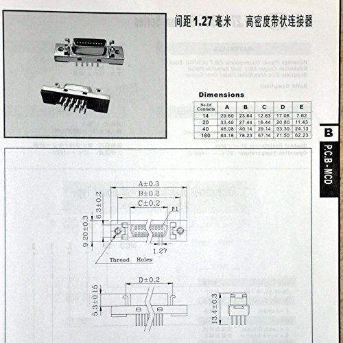 SCSI Terminal Module. Electronics-Salon 14-pin 0.05 Mini D Ribbon//MDR Female Breakout Board