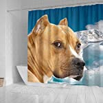 Pawzglore American Staffordshire Terrier Print Shower Curtains 6