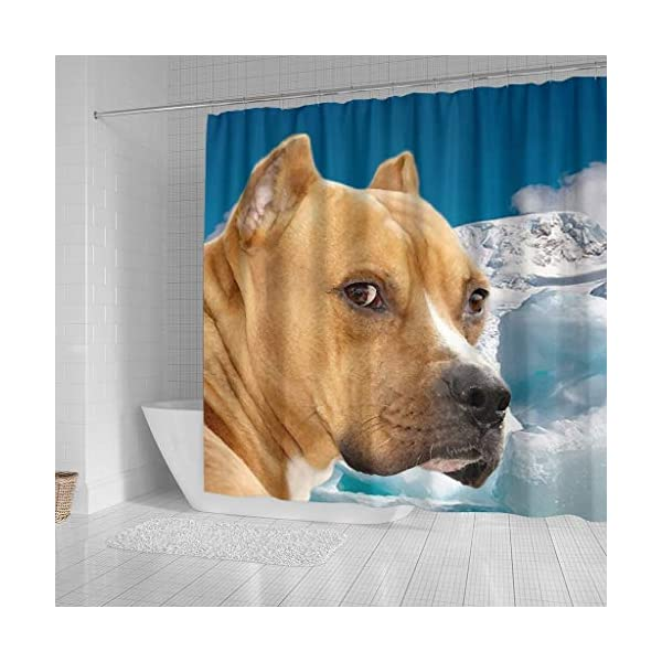 Pawzglore American Staffordshire Terrier Print Shower Curtains 2