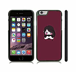 iStar Cases? iPhone 6 Plus Case with Anime Masked Character with Mustache , Snap-on Cover, Hard Carrying Case (Black)