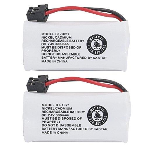 Kastar 2-PACK BBTG0798001 model BT1021 Cordless Phone Battery for Uniden BT-1021 & Uniden D1361 D1364 D1384 D1483 D1660 D1680 D1685 D1688 D1760 D1780 D1785 D1788 DECT1363 DECT 2060 DECT 2080 (2w Dect Cordless Phone)