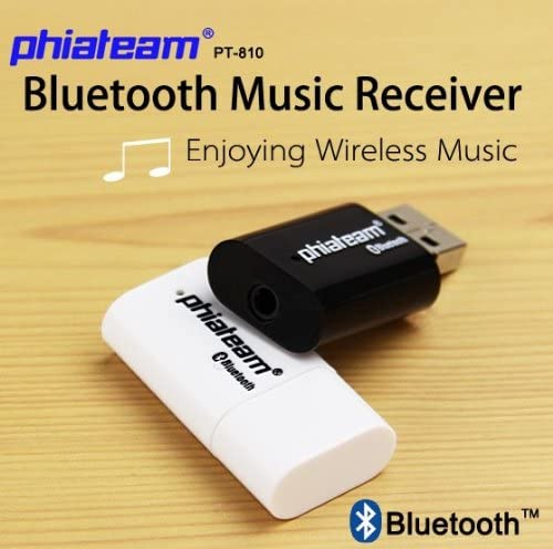 White GRANDEY PT-810 USB Bluetooth Music Audio Stereo Receiver Fit for Car AUX in Home Mp3 Speaker iPhone