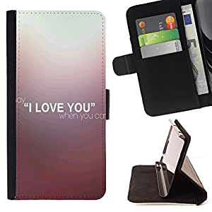 Super Marley Shop - Leather Foilo Wallet Cover Case with Magnetic Closure FOR Samsung Galaxy S3 III I9300 I9308 I737- I Love you Heart