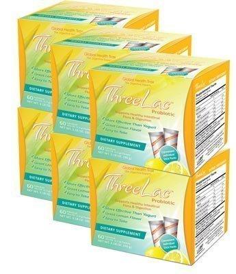 Threelac Probiotic Bonus 6 Pack 360 Pkts by GHT