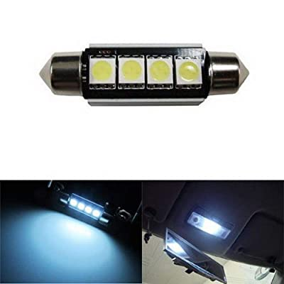 iJDMTOY 4-SMD Error Free 6411 578 LED Bulb Compatible With Car Interior Dome Light or Trunk Area Light, Xenon White: Automotive
