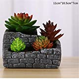 Concret Mould - Brick Wall Retro Ancient Plants Pot Making Silicone Mold Square Cement Planter Mould - Glass Ceramics Animals Goddess Kids Bowl Angel Leaves Cutters Jewelry Tools Molds Face Cupc