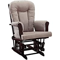 Baby Relax Glider Rocker and Ottoman, Espresso/Gray