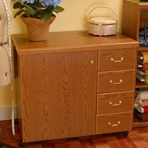 Norma Jean Wooden Sewing Table Desk Finish: Oak by Arrow Sewing Cabinets