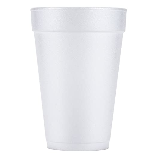 DART Cafe G Foam Hot//Cold Cups 12 oz Brown//Red//White 20//Pack 12X16GPK
