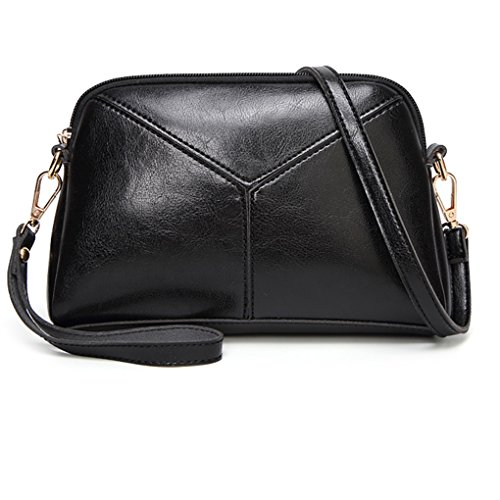 Shoulder Patchwork Mengonee Handbag Shell Purse Messenger Girls Crossbody Tote Pouch Leather Bag PU Female Black Women r77w1qE