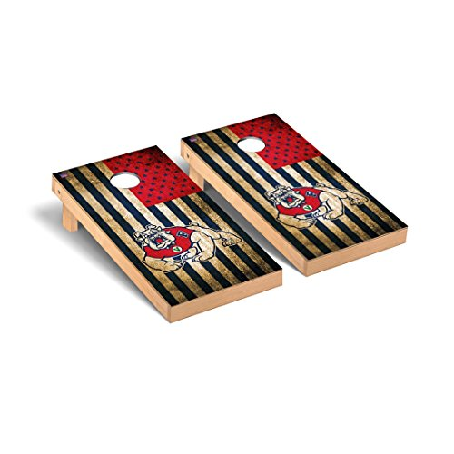 Fresno State Bulldogs Regulation Cornhole Game Set Vintage Flag Version