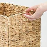 mDesign Natural Woven Hyacinth Closet Storage