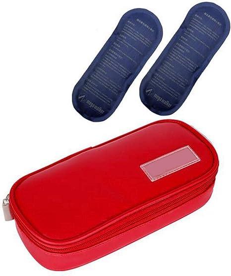 JL Estuche Viaje Refrigerador Insulina Enfriador de Medicamentos para Diabéticos Mantiene la Insulina Fresca con Bolsas de Hielo y Revestimiento Aislante Tomar Un Viaje: Amazon.es: Deportes y aire libre