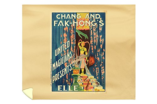 Chang and Fak - Hong's - Elle Vintage Poster Spain c. 1922 (88x104 King Microfiber Duvet Cover) by Lantern Press