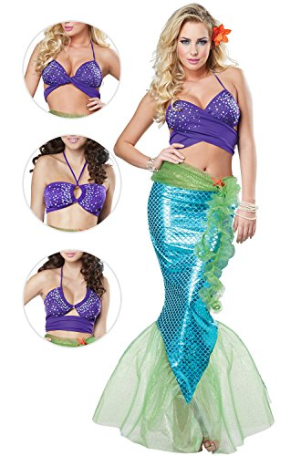 California Costumes Women's Mythic Mermaid, Multi, Large (Scary Couples Costume)