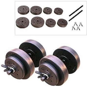 Halcon Fitness juego de mancuernas vinilo peso 40 kg: Amazon.es: Deportes y aire libre