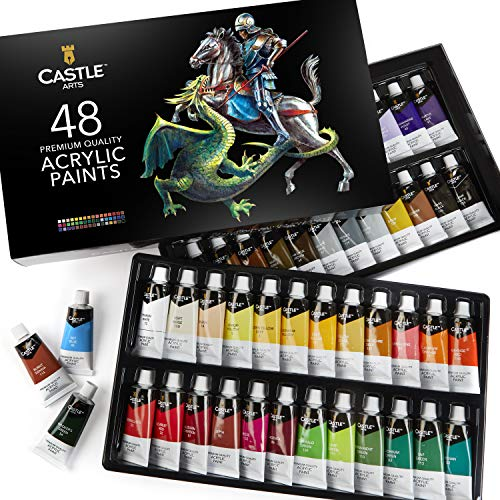 Castle Art Supplies 48 22ml Large Acrylic Paints Sets for Adults Artists Beginners | Vibrant Colors | The Premium…