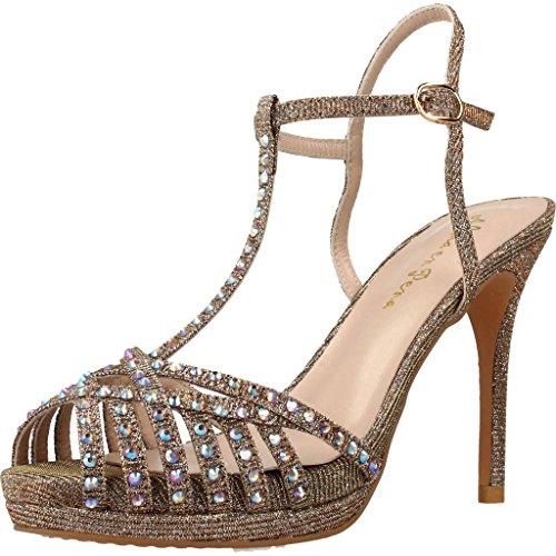 Alma Color Metálico EN Sandalias de para Mujer Vestir PENA De Mujer Metálico Marca Modelo Vestir PENA V18194 EN Alma para Sandalias Metálico q0I4w