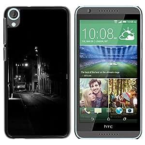 For HTC Desire 820 Case , Lights Black Buildings Somber Night - Diseño Patrón Teléfono Caso Cubierta Case Bumper Duro Protección Case Cover Funda