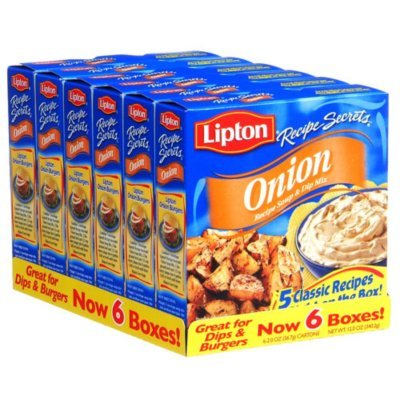 Lipton Onion Recipe Soup and Dip Mix 2 oz., 6 ct. A1