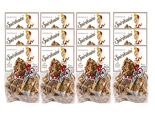 Spritosini Biscotti with Hazelnuts and Cocoa by Spinosi (Case of 12 Packages) by Spiritosini