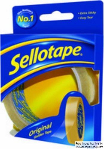 Sellotape Original Golden Tape Roll Non-static Easy-Tear 24mmx50m (Pack of 12)