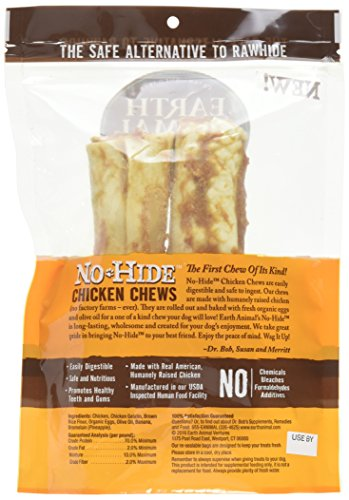 Earth Animal No-Hide Chicken Chews Large 7oz, 2-Pack by Earth Animal (Image #3)