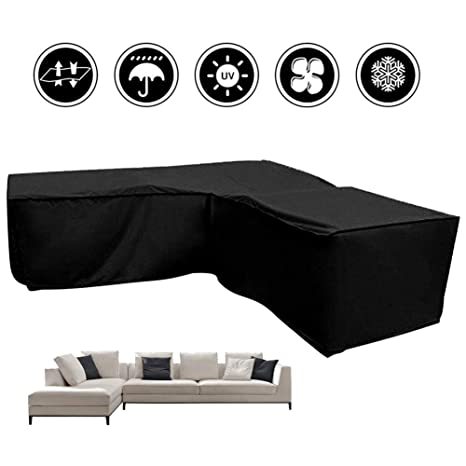 Amazon.com : benefit-X Patio Sofa Cover Waterproof L Shape Cover ...
