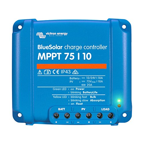 Victron BlueSolar MPPT 75/10 Charge Controller - 10 Amps / 75 Volts by Victron