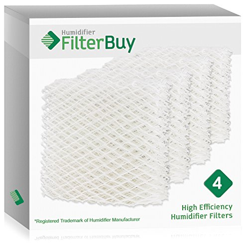 FilterBuy Replacement Filtera Compatible with Sears Kenmore 14804 & Honeywell HAC-500 Humidifier Filter Pad. Designed to be Compatible Part #'s AC818, AC-818, D18-C & D18C. Pack of 4. (Humidifier Filters Kenmore 14114)