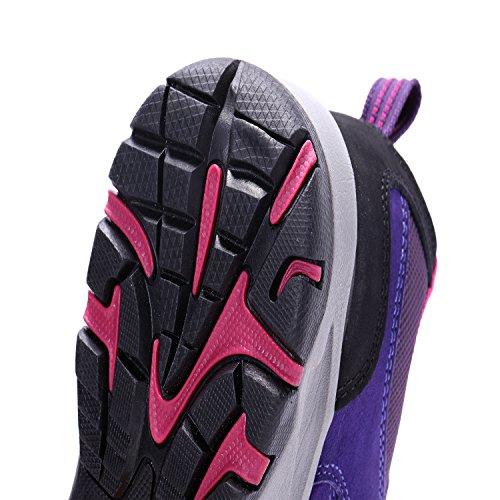 La Première Chaussure De Randonnée Respirant Des Femmes En Plein Air Violet