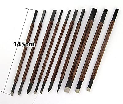 The Stone Carving Set of 10 Dedicated Chisel Engravings Sword Stylus Mark Sword Stone Carving , Stone Cut Knife Set , Graver Burin Carving Tools ,Hobby Rocks Wood Carving 10pcs