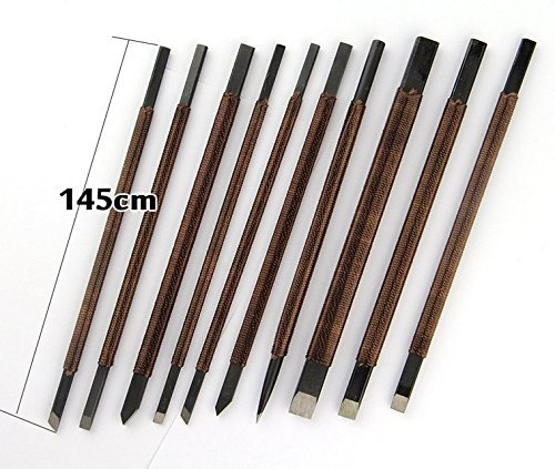 The Stone Carving Set of 10 Dedicated Chisel Engravings Sword Stylus Mark Sword Stone Carving , Stone Cut Knife Set , Graver Burin Carving Tools ,Hobby Rocks Wood Carving 10pcs (Supplies Carving Stone)