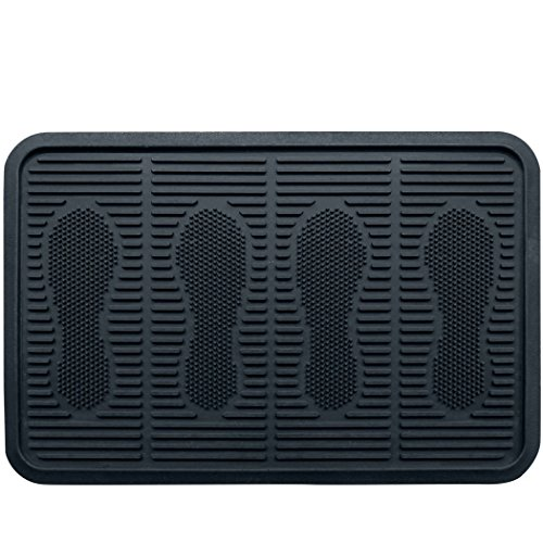 SafetyCare Heavy Duty Flexible Rubber Boot Tray, Multi-Purpose for Shoes, Pets, Garden - 24 x 16 Inches - 1 Mat