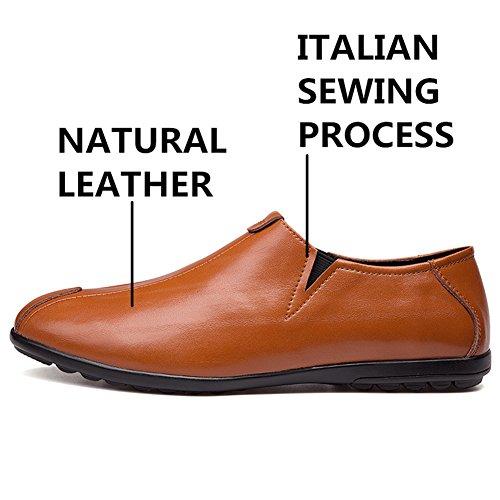 Oxford Marrone Scarpe Classico da Eleganti Marrone Scarpe Pelle Uomo Comode Moderno in qXv0rwxX
