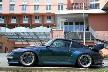 Porsche 911 Gemballa 993 Bi Turbo Blue Left Side HD Poster Super Car Jumbo 48 X