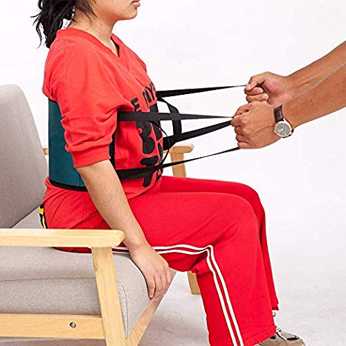 Fushida Lift Sling Transfer Belt, Double Period of PVC 1680 Medical Assistant Strap, Padded Lift Belt with Handles Helps with Transfers from Car, Wheelchair, Bed. (Green, FYH250)