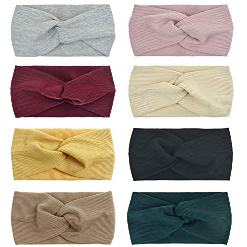 DRESHOW 8 Pack Women's Headbands Headwraps Hair Bands Bows -