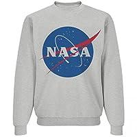 NASA Logo Heather Grey Sweater: Unisex Jerzees NuBlend Crewneck Sweatshirt