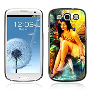Designer Depo Hard Protection Case for Samsung Galaxy S3 / Beautiful Forrest Woman & Butterflies