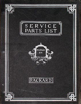 1922-1928 Packard Six Parts Book Reprint 6 Cylinder, used for sale  Delivered anywhere in USA