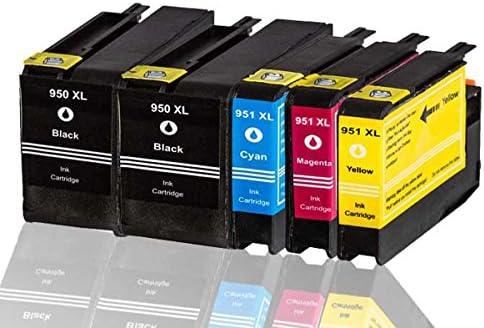 Premium 5 Pack cartuchos de tinta compatible con HP 950 X L, 951 X L CN048 A Officejet Pro 8600, 8600 Plus, 8100 E-All-in-One compatible (BK, C, y, M): Amazon.es: Oficina y papelería