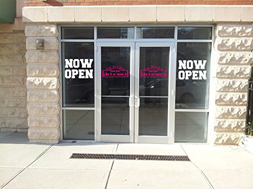 Now Open Store grand opening Storefront signage window decor Vinyl Decal set of - Open Now Stores