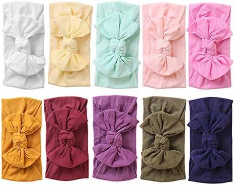 Baby Nylon Headbands Hairbands Hair Bow Elastics for Baby Girls Newborn Infant Toddlers Kids (Super soft-I)