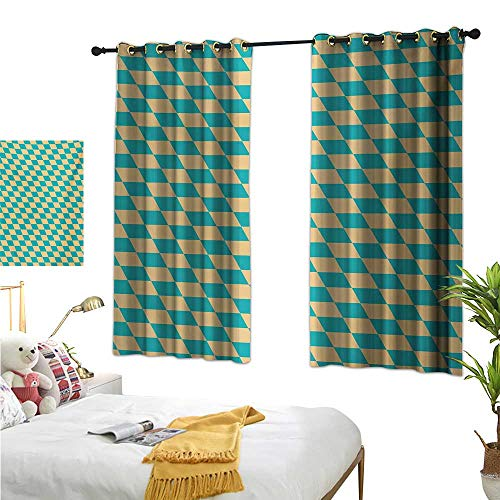 S Brave Sky Decor Curtains by,Geometric,63