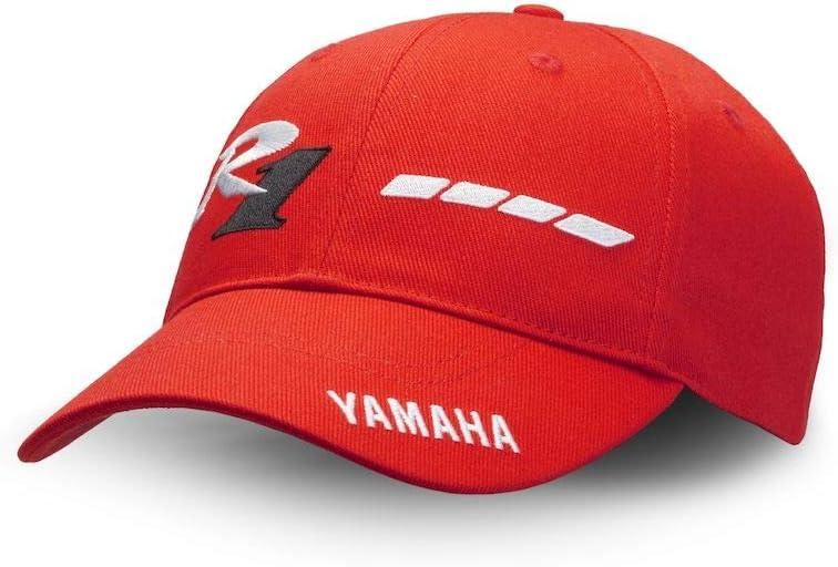 Official 20th Anniversary Yamaha YZF-R1 1998 Limited Edition Paddock Blue Team YART and GMT94 8-Hour Suzuka Road Running Cap Cap Cap Taglia unica Bianco