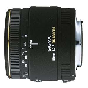Sigma 50mm f/2.8 EX DG Macro PAF - Objetivo para Pentax (distancia focal fija 50mm, apertura f/5.6, diámetro: 55mm) color negro