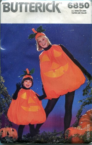 Sewing Patterns Costumes Butterick Halloween (Butterick Sewing Pattern 6850 Children's/Misses' Halloween Costume All Sizes)