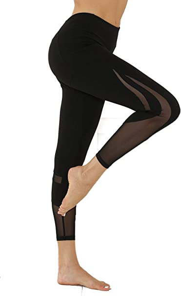JGS1996 Womens High Waisted Yoga Capri Leggings Workout Leggings with Pockets Sport Pants for Fitness Gym