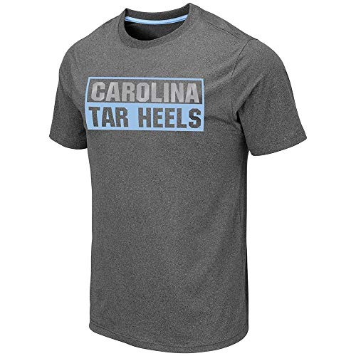 Colosseum North Carolina Tar Heels Auchland UNC Dry Fit T-Shirt Grey